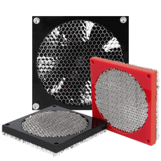 Honeycomb fan skjold